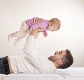 Pai com criança Fotos de Stock Royalty Free