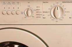 Painel de controle da máquina de lavar fotografia de stock