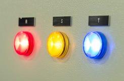 O painel de controle do fogo, indústrias Fotografia de Stock Royalty Free
