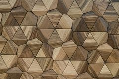 O painel de madeira é feito a mão decora??o bonita da parede ilustração royalty free