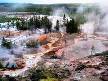 O Paintpots dos artistas em Yellowstone Fotografia de Stock