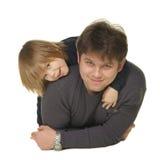 O paizinho com o filho Imagens de Stock Royalty Free