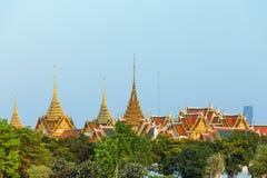 O palácio é marco de Banguecoque, Tailândia Fotos de Stock