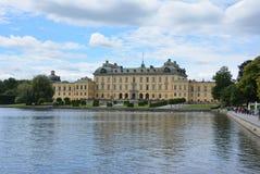 O palácio Éstocolmo de Drottningholm Imagem de Stock Royalty Free