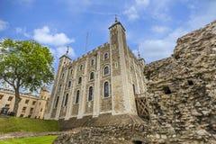O palácio branco na torre de Londres Foto de Stock Royalty Free
