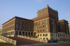 O palácio da cultura Centro da cidade de Dabrowa Gornicza, região de Silesia, Polônia Fotografia de Stock Royalty Free
