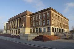O palácio da cultura Centro da cidade de Dabrowa Gornicza, região de Silesia, Polônia Fotos de Stock Royalty Free