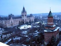 O palácio da cultura em Iasi, Romênia imagens de stock royalty free