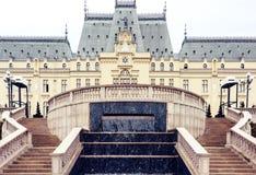 O palácio da cultura em Iasi, Romênia foto de stock royalty free