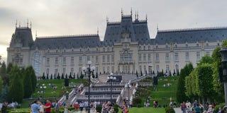 O palácio da cultura em Iasi, Romênia imagens de stock