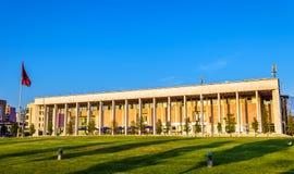 O palácio da cultura em Tirana Foto de Stock Royalty Free