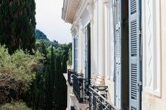 O palácio de Achilleion fotos de stock