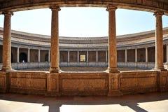 O palácio de Charles V, Granada, Espanha Imagem de Stock Royalty Free