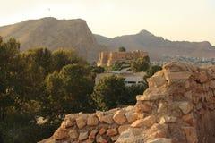 O palácio de Falak-ol-Aflak na cidade de Khorramabad, Irã fotos de stock