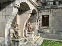 O palácio de Massandra do imperador Alexander III é ficado situado no Massandra superior Fotos de Stock Royalty Free