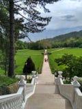O palácio de Massandra do imperador Alexander III é ficado situado no Massandra superior na costa do sul da Crimeia Imagem de Stock Royalty Free