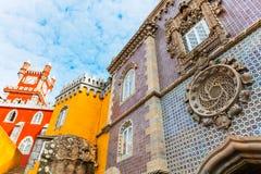 O palácio de Pena é um castelo do Romanticist em Sintra, Portugal Foto de Stock
