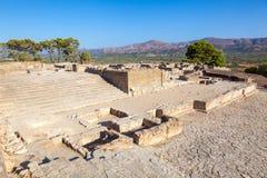 O palácio de Phaistos arruina a ilha da Creta Grécia Fotos de Stock Royalty Free