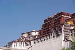 O palácio de Potala Fotos de Stock Royalty Free