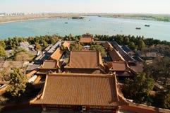O palácio de verão no Pequim fotos de stock