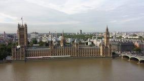 O palácio de Westminster Vista de meu guindaste de torre Imagens de Stock Royalty Free