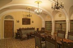 O palácio Dinning de Ceausescu fotografia de stock royalty free