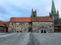 O Palácio do arcebispo, Trondheim, Noruega Fotografia de Stock Royalty Free