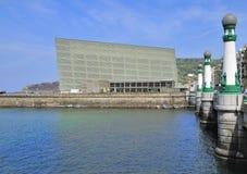 O palácio do congresso de Kursaal em San Sebastian Fotografia de Stock