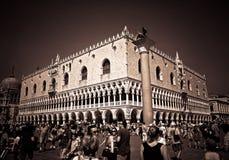 O palácio do doge - o quadrado de St Mark - Veneza, Itália Imagens de Stock Royalty Free