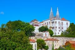 O palácio do nacional de Sintra Fotografia de Stock Royalty Free