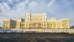 O palácio do parlamento Bucareste romania Foto de Stock Royalty Free