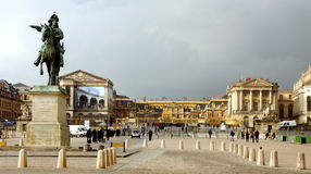 O palácio do sol do rei em Versalhes Foto de Stock Royalty Free