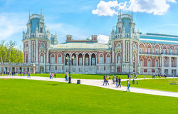 O palácio do tijolo de Tsaritsyno Imagem de Stock
