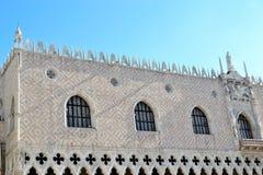 O palácio dos doges em Veneza imagem de stock