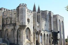O palácio dos papas Fotos de Stock Royalty Free