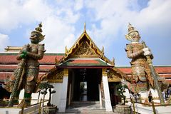 O palácio e o templo grandes de Emerald Buddha Fotografia de Stock
