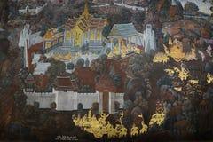 O palácio e o templo grandes de Emerald Buddha Imagens de Stock Royalty Free