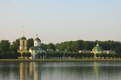 O palácio em Kuskovo imagem de stock