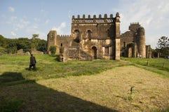 O palácio gondar, Etiópia Fotografia de Stock Royalty Free