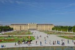 O palácio imperial de Schonbrunn em Wien fotos de stock