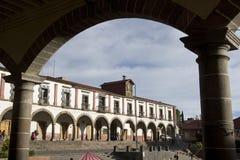 O palácio municipal de Tlalpujahua Imagens de Stock