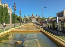 O palácio nacional de Montjuic em Barcelona fotografia de stock royalty free