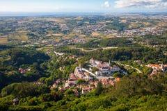 Vista aérea da vila de Sintra, Portugal. Imagens de Stock
