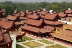 O palácio real em Mandalay, Myanmar Imagens de Stock