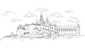O palácio velho Foto de Stock Royalty Free