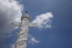 O palácio yuanming rebuilded Fotos de Stock Royalty Free