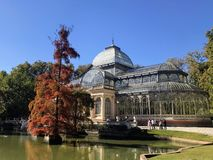 O Palacio de Cristal 'palácio de vidro ' fotos de stock royalty free
