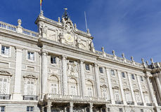 O Palacio Real de Madri Royal Palace Foto de Stock Royalty Free
