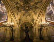 O Palais Garnier, Opera de Paris, interiores e detalhes Foto de Stock Royalty Free