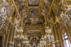 O Palais Garnier, Opera de Paris, interiores e detalhes Fotos de Stock Royalty Free